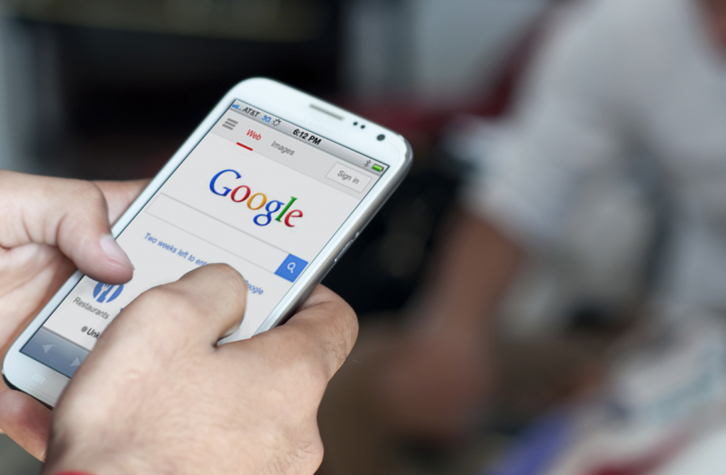 جست و جوی موبایلی در گوگل