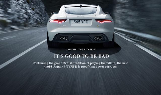 کمپین تبلیغاتی جگوتر با عنوان بد بودن خوب است