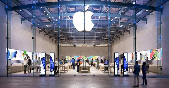 نمای یکی از فروشگاه های برند اپل