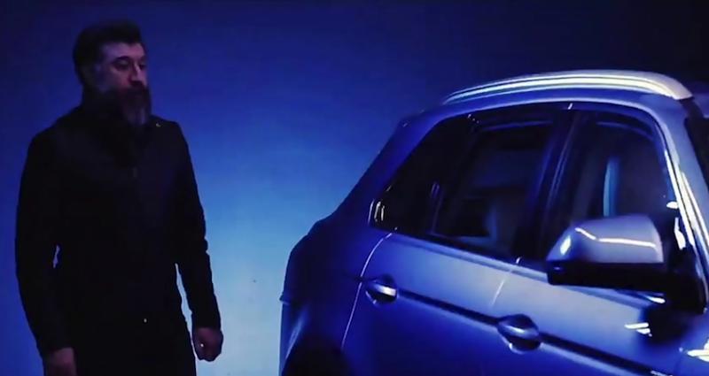 حضور علی انصاریان در تبلیغ خودروی دامای